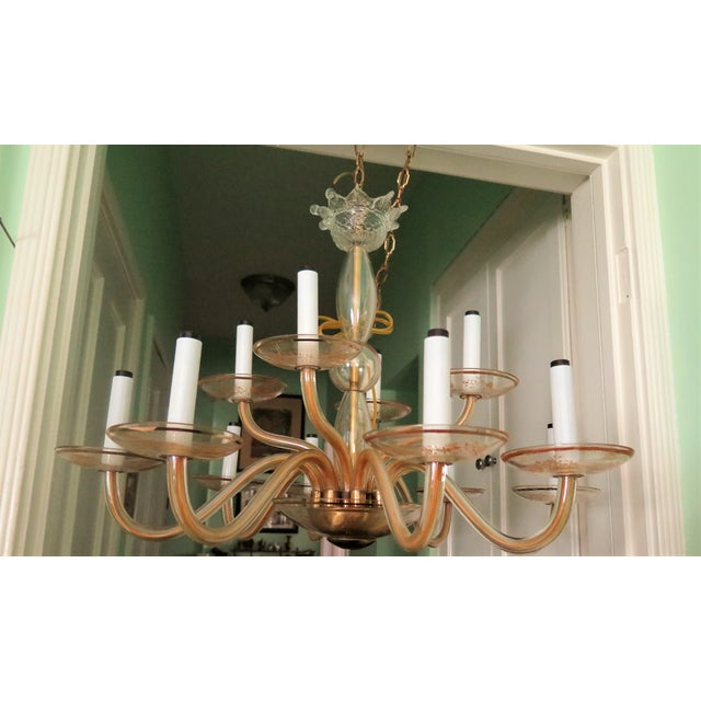 Vintage Murano Gold Chandelier - Image 2 of 5
