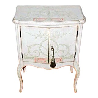 Custom Hand Painted White Venetian Nightstand