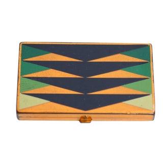 Geometric Art Deco Compact Case