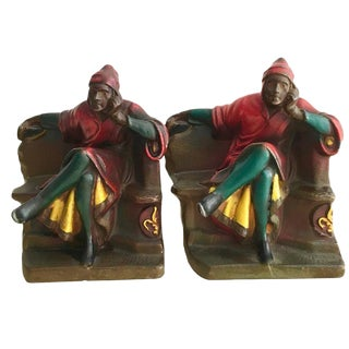 20th Century Metal Dante Bookends - A Pair