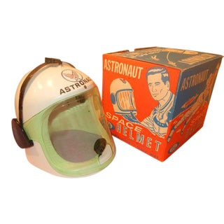 Vintage Ideal Space Helmet Toy In Box