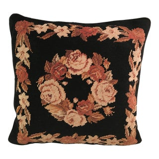 Fall Colors Needlepoint Pillow