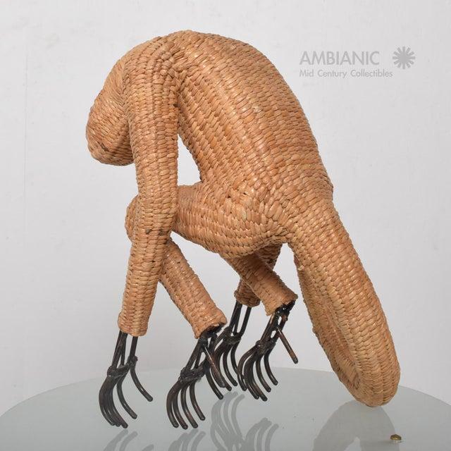 Mario Lopez Torres Wicker Monkey Sculpture - Image 4 of 10
