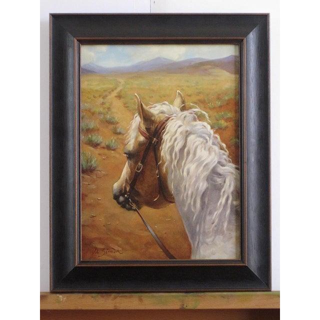 """Ute Simon """"Desert Trail"""" Horse Painting - Image 2 of 7"""