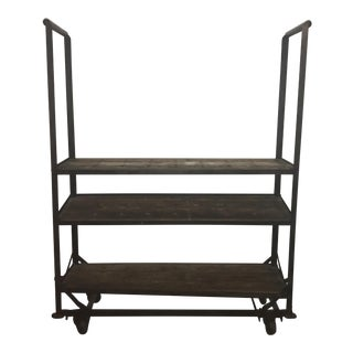 Antique Industrial Cobblers Shoe Rack Shelving Unit