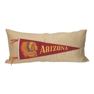 Arizona Indian Pennant on Linen Pillow