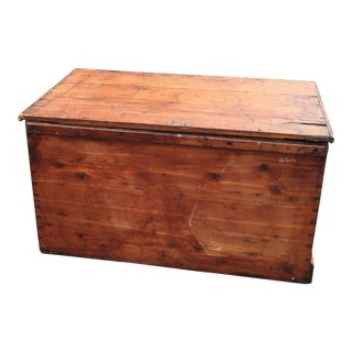 Flat Top Trunk With Handles