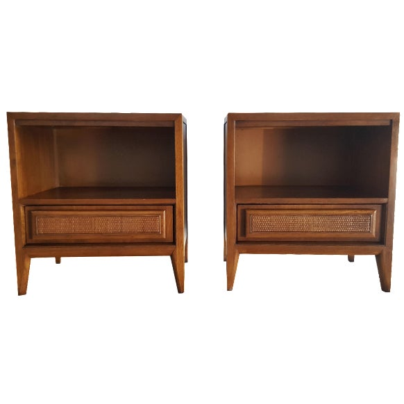 Vintage Mid-Century Nightstands by Century - Pair - Image 1 of 10