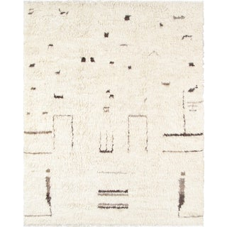 Moroccan Wool Area Rug - 8′ × 10′4″