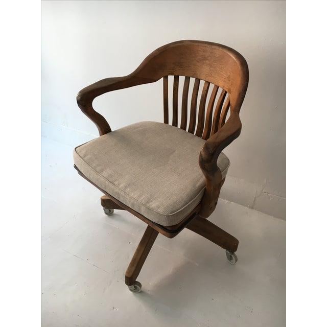 Image of Vintage Oak Banker's Chair