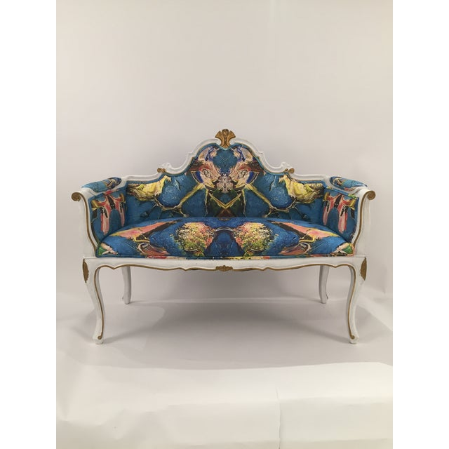 Antique French Louis XV Style Restored Settee - Image 7 of 11