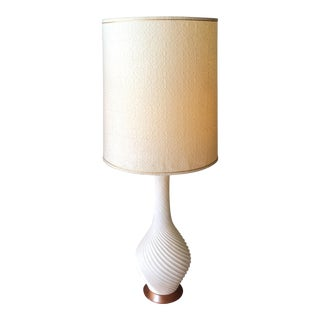 1960s Ceramic Swirl Table Lamp