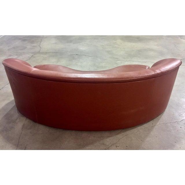 Vladimir Kagan Biomorphic Kidney Bean Shaped Sofa - Image 4 of 9
