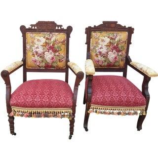 Vintage Eastlake Armchairs - A Pair