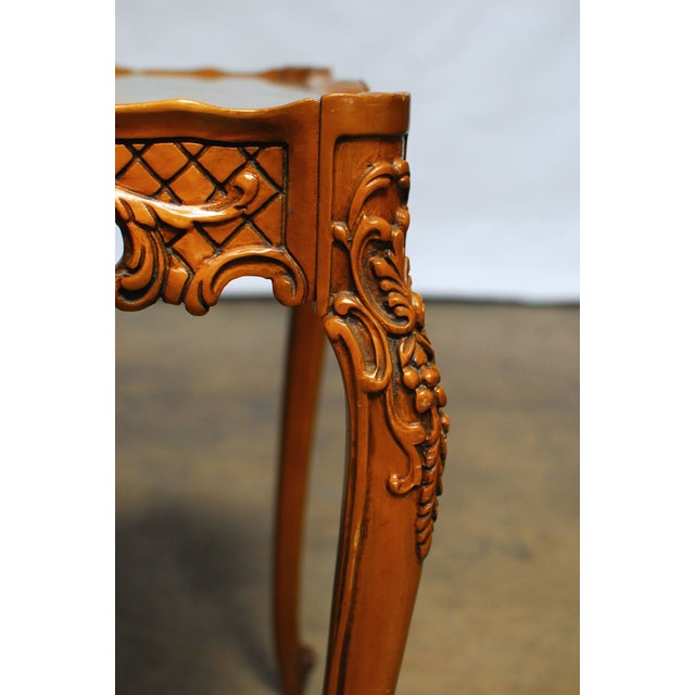 French Provincial Inlaid Table - Image 2 of 4