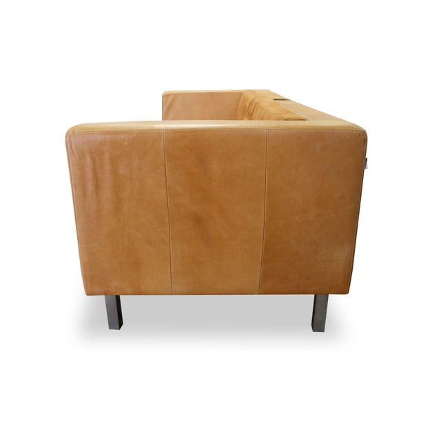 Modern Brazilian Brown Suede Sofa - Image 4 of 5