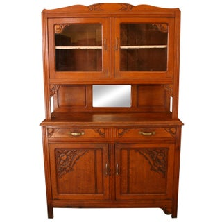 Vintage French Cabinet & Hutch