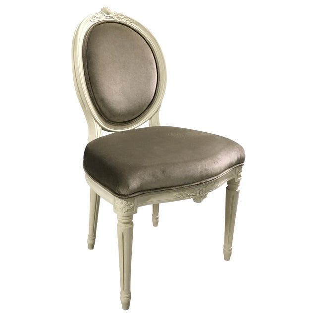 Swedish Gustavian Style Side Chair - Image 1 of 9
