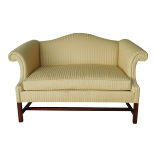 "Hickory Chair Chippendale Style Camel Back Settee 57""W"