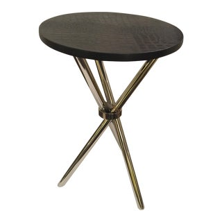 Small Occasional Table With Faux Croc Top