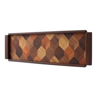 Rosewood Tray with Tromple L'Oeil Inlay by Don Shoemaker for Señal