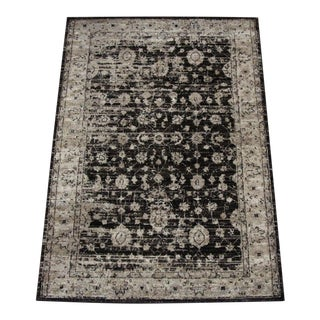 Antique Style Distressed Brown Rug - 3′ × 5′