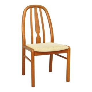 Uldum Mobelfabrik Mid-Century Danish Modern Teak Dining Side Desk Chair