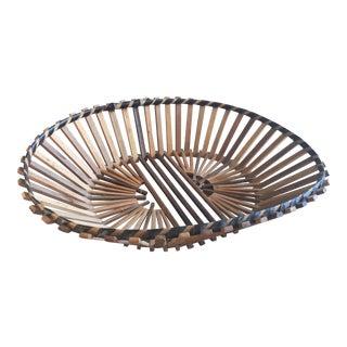 Vintage Boho Chic Split Bamboo Bowl Tray