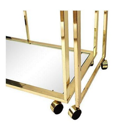Brass and Glass Bar Cart by Milo Baughman for DIA - Image 4 of 5