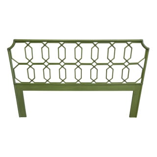 King Rattan Lime green Headboard