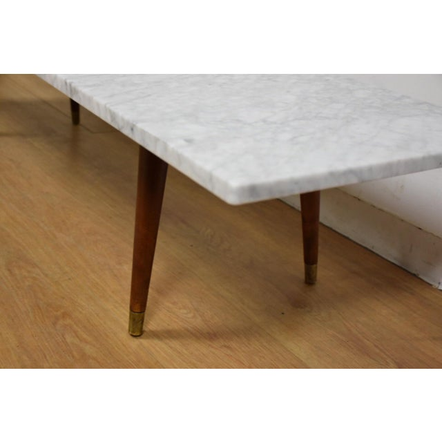 Mid Century Modern Marble Top Coffee Table: Mid-Century Modern Italian Marble Coffee Table