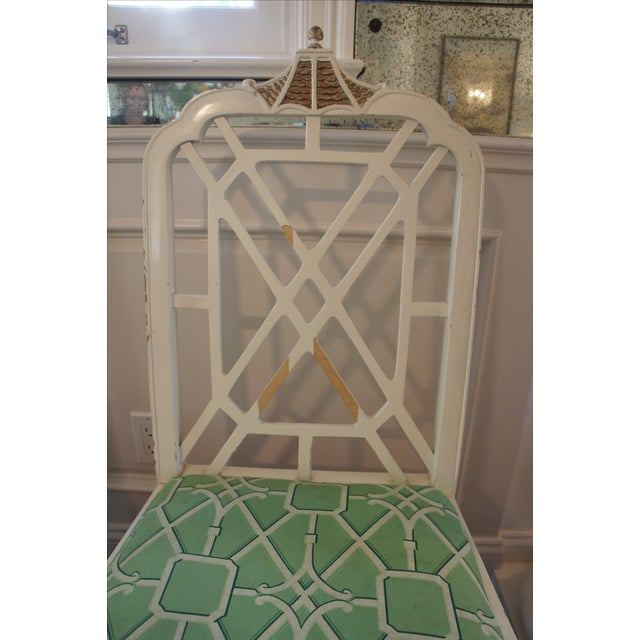 Pagoda Dining Chairs - Set of 4 - Image 5 of 9