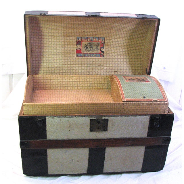 100 Year Old Saratoga Petite Dome Top Doll Trunk - Image 2 of 11
