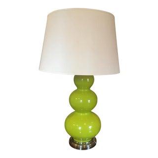 Robert Abbey Chartreuse Triple Gourd Lamp