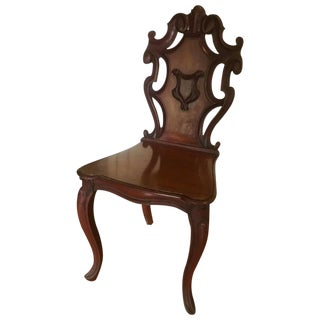 Carved Crest Hall Chair