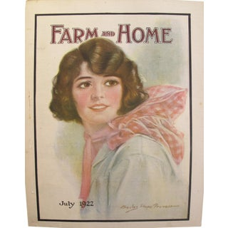 1922 Original Vintage Farm and Home Magazine Cover, July Edition