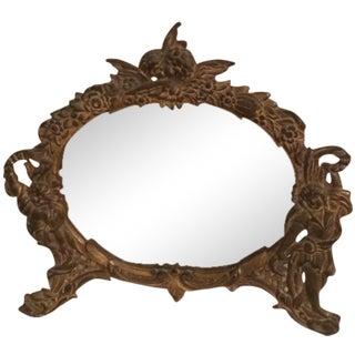 Rococo Bronze Easel Dresser Mirror