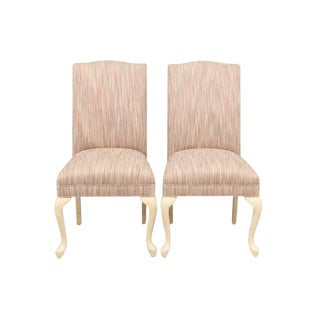 Queen Anne Style Parson Chairs, Pair