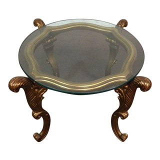 Italian Renaissance Style Gilt & Glass End Tables - A Pair