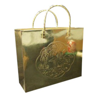 Brass Shopping Bag Magazine Holder