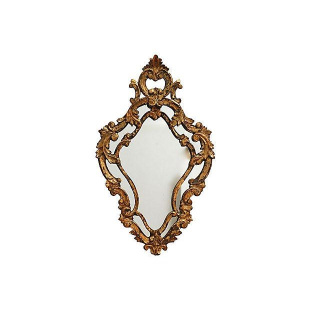 Antique Florentine Giltwood Mirror - Image 4 of 4