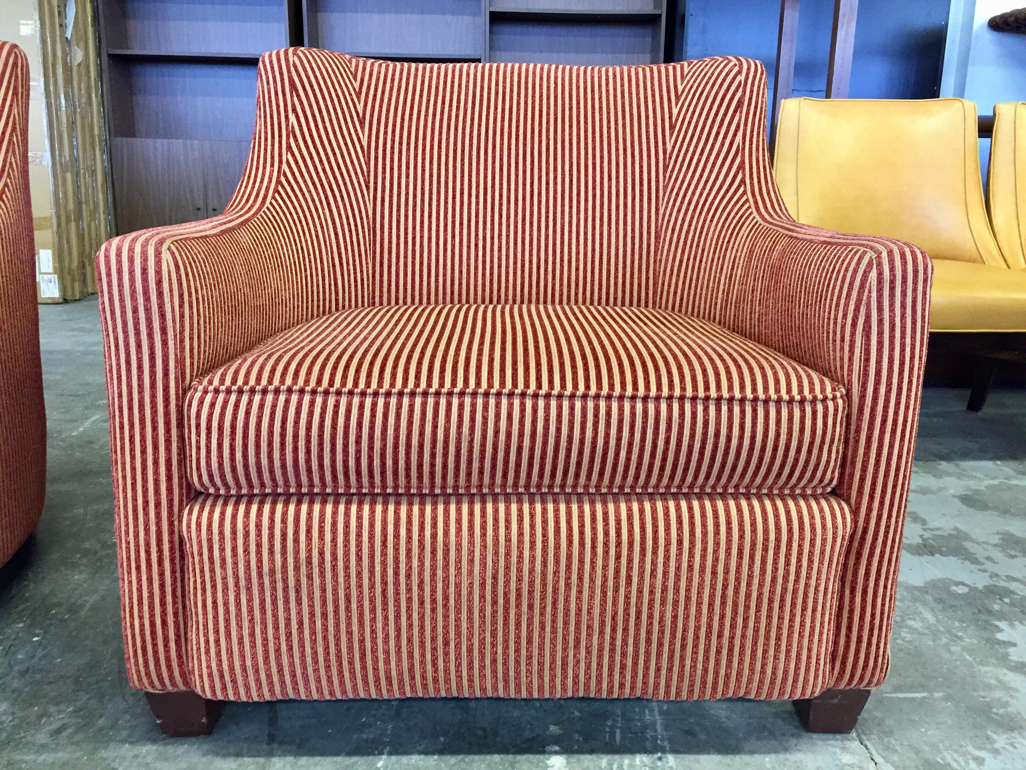 Red U0026 Gold Wide Wale Corduroy Armchairs   A Pair   Image 6 ...