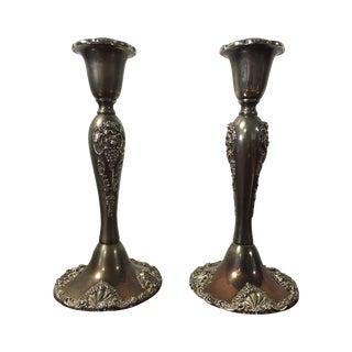 Godinger Baroque Silverplate Candlesticks - A Pair