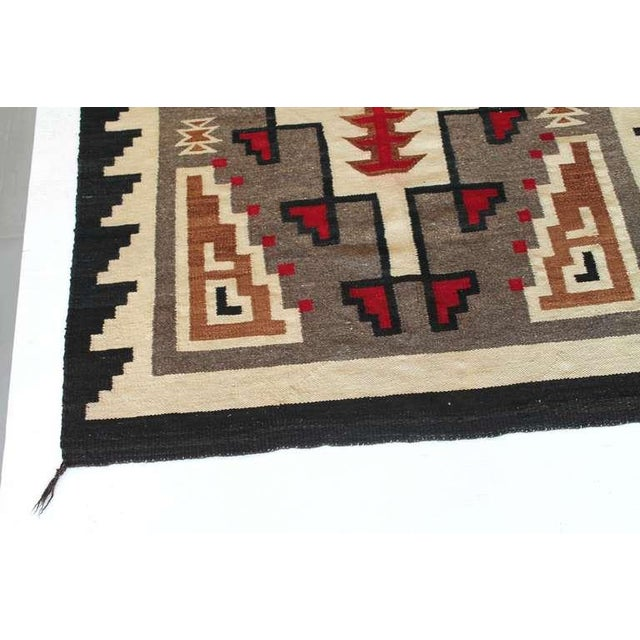 World Class Early Navajo Indian Weaving In Vibrant