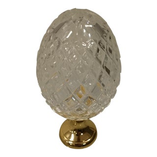 Crystal Newel on Brass Base