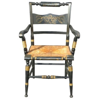 Tell City French Country Black & Gold Accent Chair