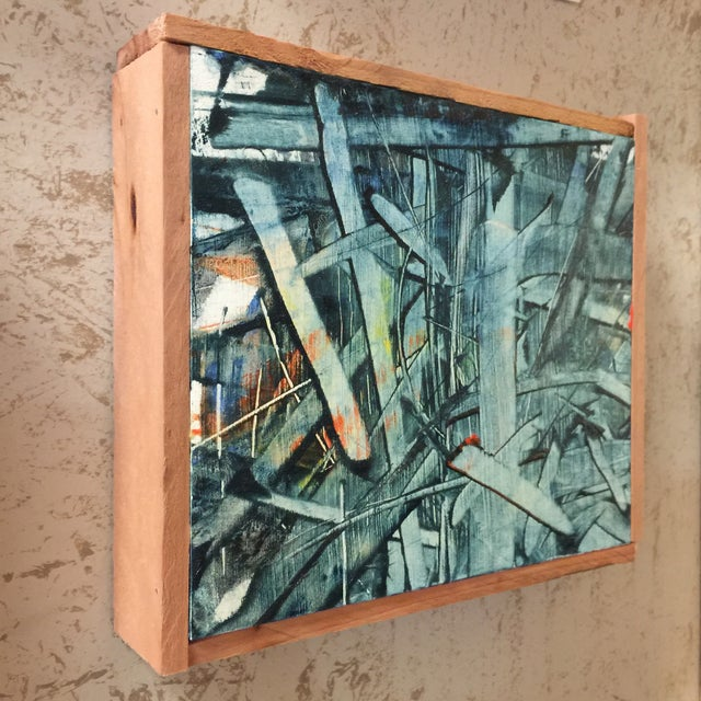 """Image of """"Float"""" Oil Painting on Wood"""