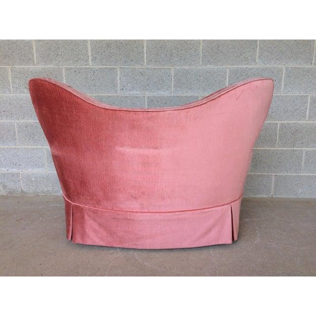 Vintage Pink Tufted Loveseat - Image 3 of 10