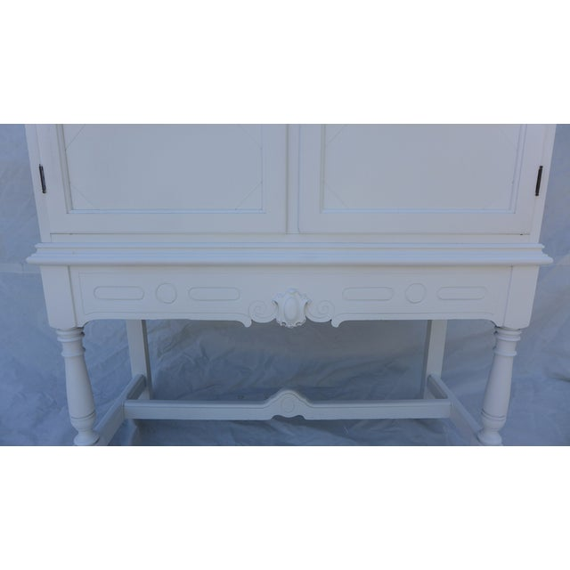 Antique White Painted Cabinet - Image 6 of 8