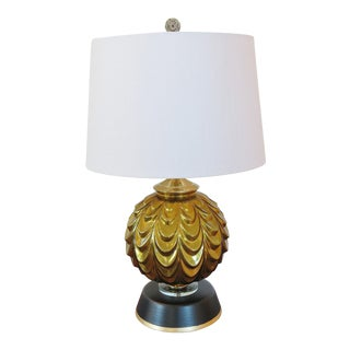 Vintage Regency Gold Mercury Italian Glass Lamp